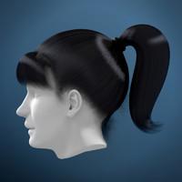 3d woman hair