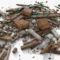 3d debris model
