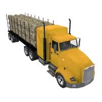 3d log truck