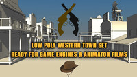 western town buildings 10 3d max