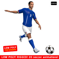 soccer player italy 3d max