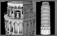 3d model leaning tower pisa