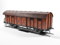 boxcar railway 3d model