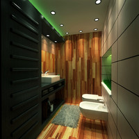 3ds max bath room