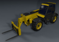 forklift loader terrain 3d model