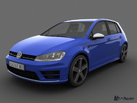 3d volkswagen golf r 5 model