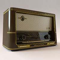3d model tabletop radio