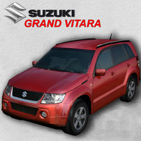 suzuki grand vitara red 3d 3ds