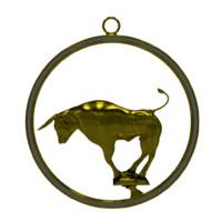 taurus zodiac 3d blend