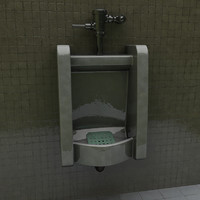 3d realistic urinal model
