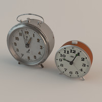 alarm clocks 3d max