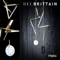 bec brittain helix hanging lamp 3d model