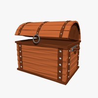 3d model cartoon chest