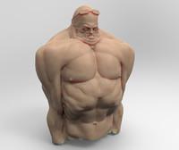 3d model swimmer cold
