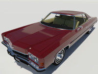 chevrolet impala 1971 car vehicle 3d max