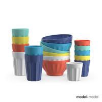 3d ceramic bowls cups
