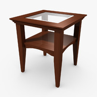 3d wood table model