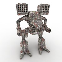 3d model mechwarrior robot