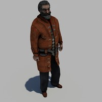 3d model of scientist steampunk