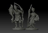 3d model ivory statue