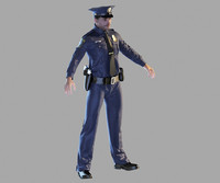 policeman cop police 3ds