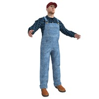 3d model farmer man