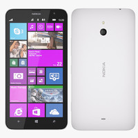 nokia 1320 - white 3d 3ds