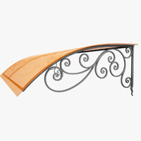 3d wrought iron awning model