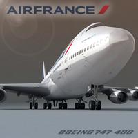 boeing 747-400 air france 3d model