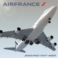 3ds boeing 747-400 air france