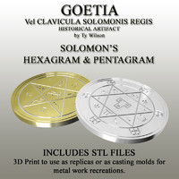 3d pentagram goetia model