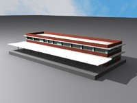 amtrak station charleston 3d model