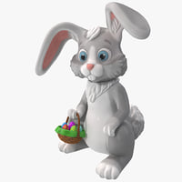 obj cartoon easter bunny