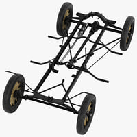3d t chassis modeled