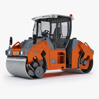 hamm-hd90 articulated tandem roller 3d max