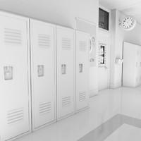 School Hallway White