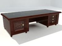 maya wooden writing desk marble