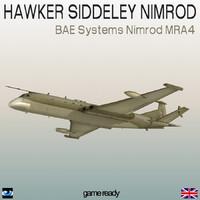 hawker nimrod royal navy 3d max