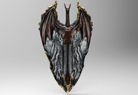 3d dragon shield