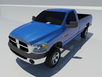 dodge ram 2500 reg 3d model