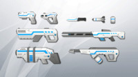 3d model sci-fi weapons pack