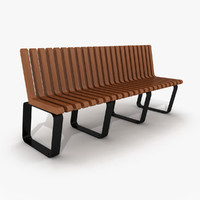 3d model of outdoor bench