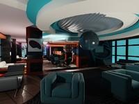 3d interior restaurant model