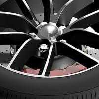 dodge challenger 392 wheel 3d max