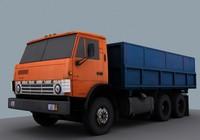 3d kamaz 55102 model