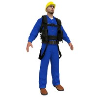construction worker man 3d max