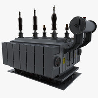 electric power transformator 3d model