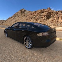 3d tesla electric vehicles