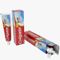 3d model colgate paste