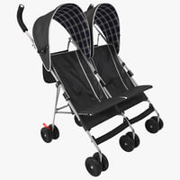 3d double umbrella stroller
